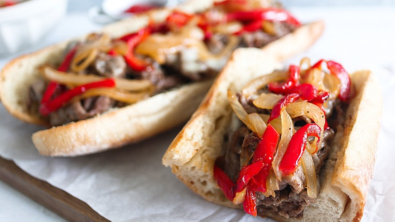 Trader Joe's Philly Cheesesteak sandwiches