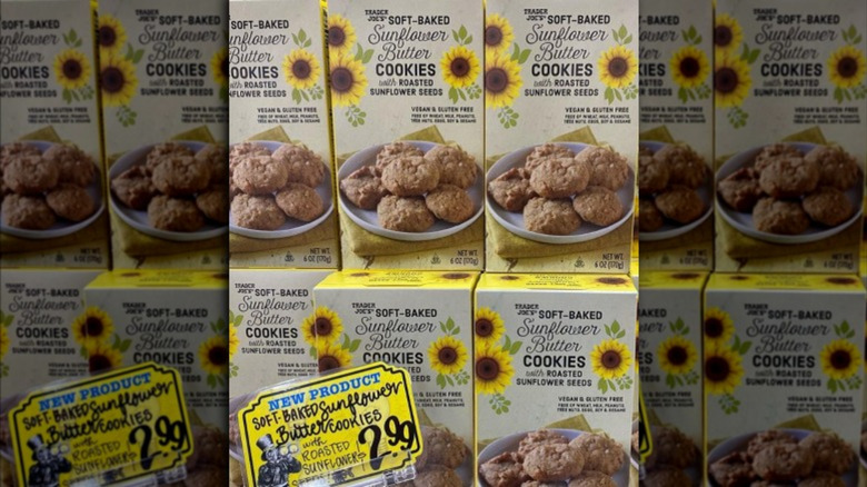 Boxes of sunflower butter cookies
