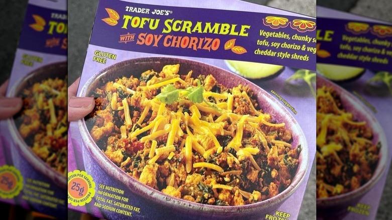 Box of frozen Trader Joe's tofu scramble