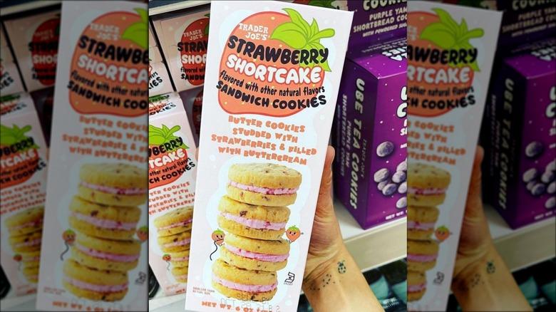 Trader Joe's Strawberry shortcake cookies box