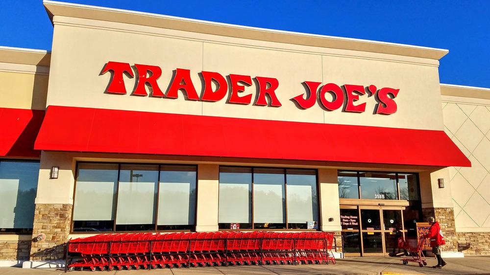 Outside a Trader Joe's shop