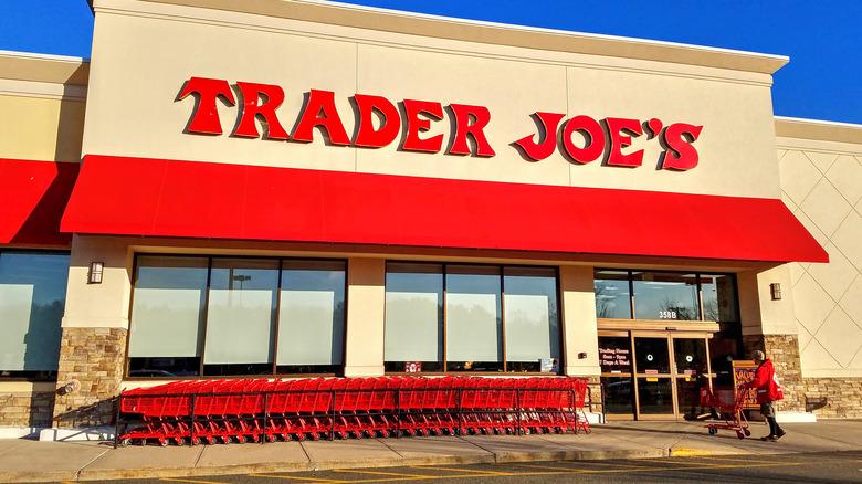 Outside a Trader Joe's