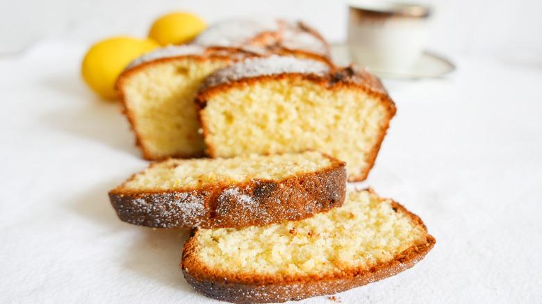 Traditional Madeira Cake sliced