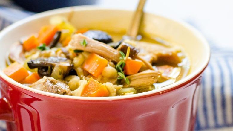 turkey barley mushroom soup