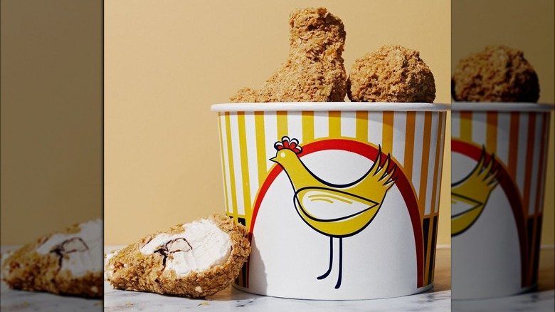 Fried chicken ice cream nugget