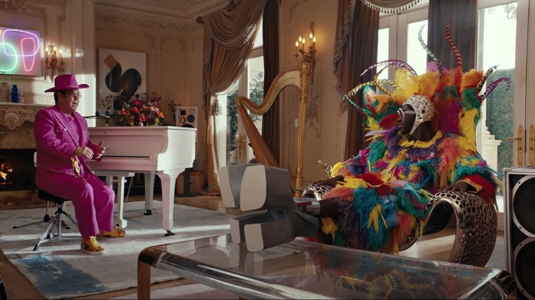 Elton John and Lil Nas X in the new Uber Eats ad