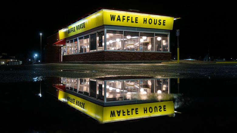 Waffle house at night