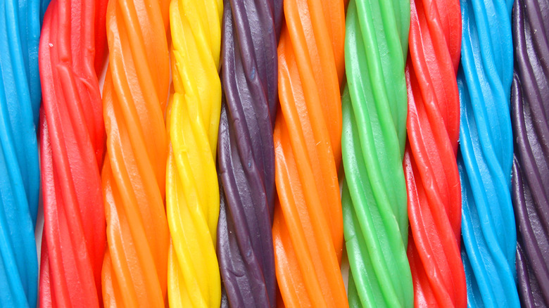 Different colors of Twizzlers