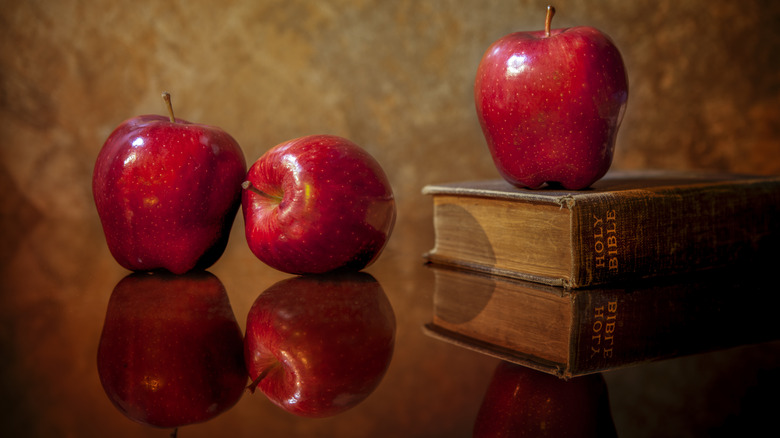 bible and apples not the forbidden fruit