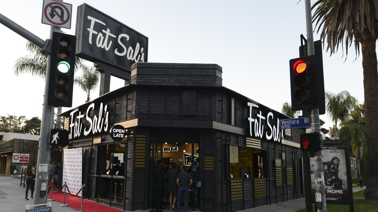 Outside Fat Sal's restaurant