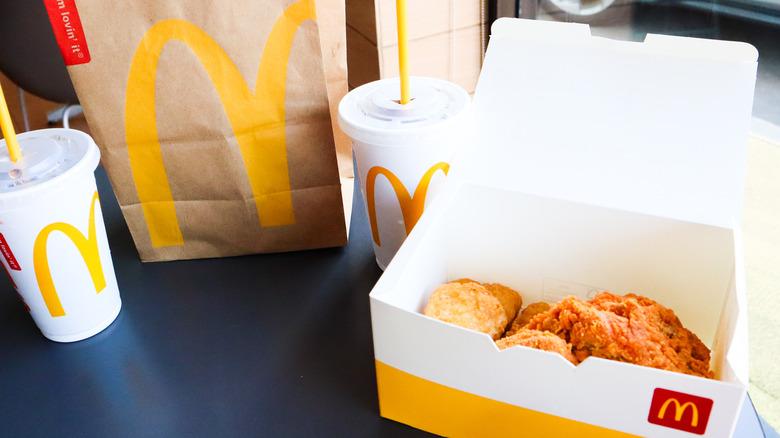 McDonald's fast food meal