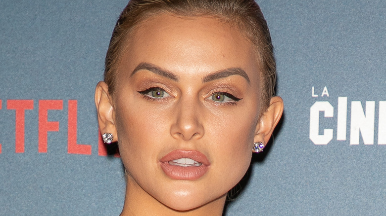 Closeup of actress Lala Kent wearing earrings