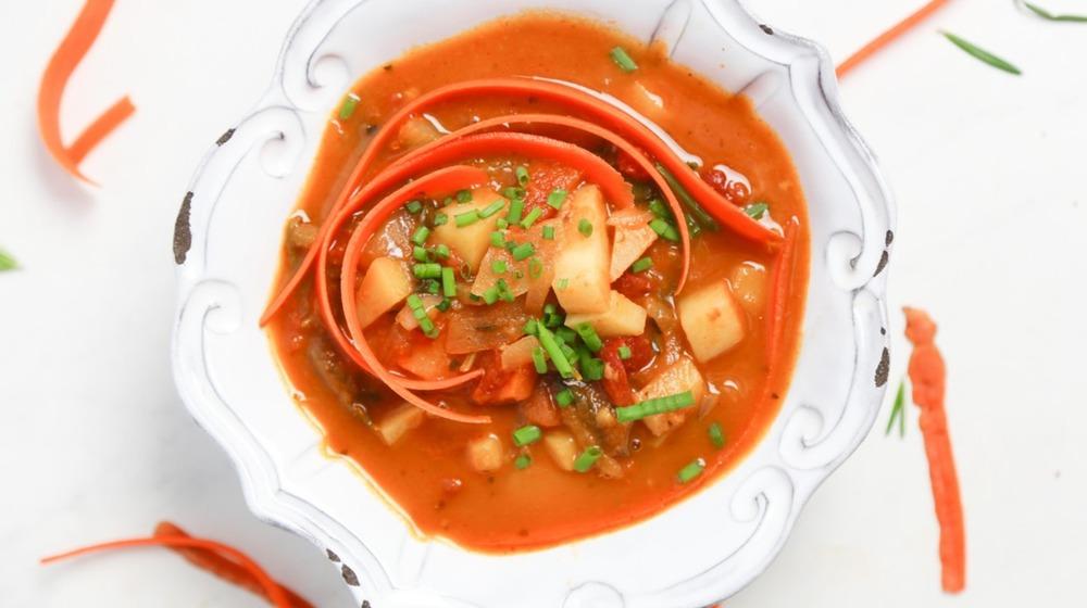 finished vegetable soup