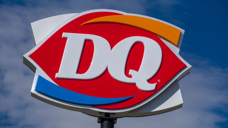 Dairy Queen logo on a sign