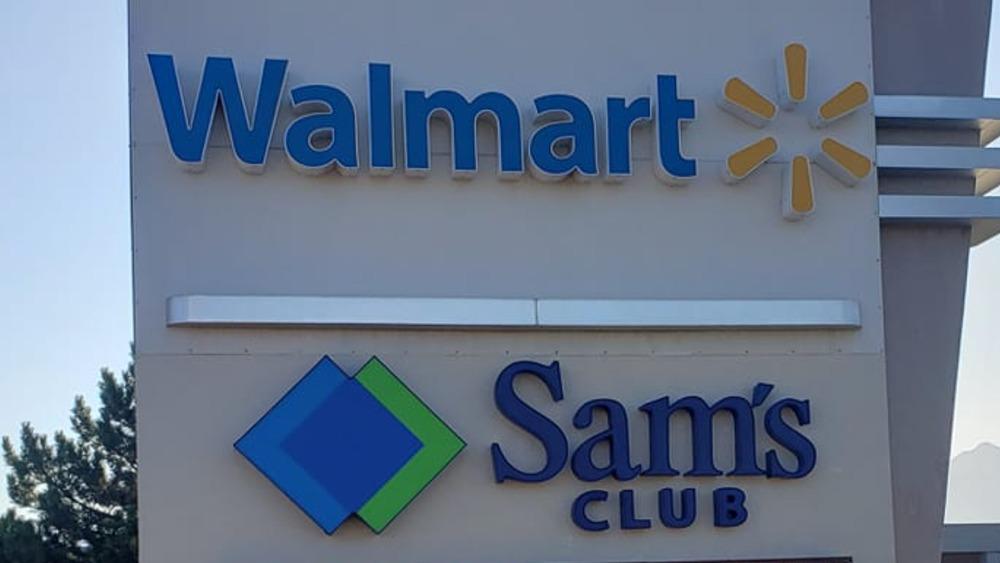 Walmart and Sam's Club signs