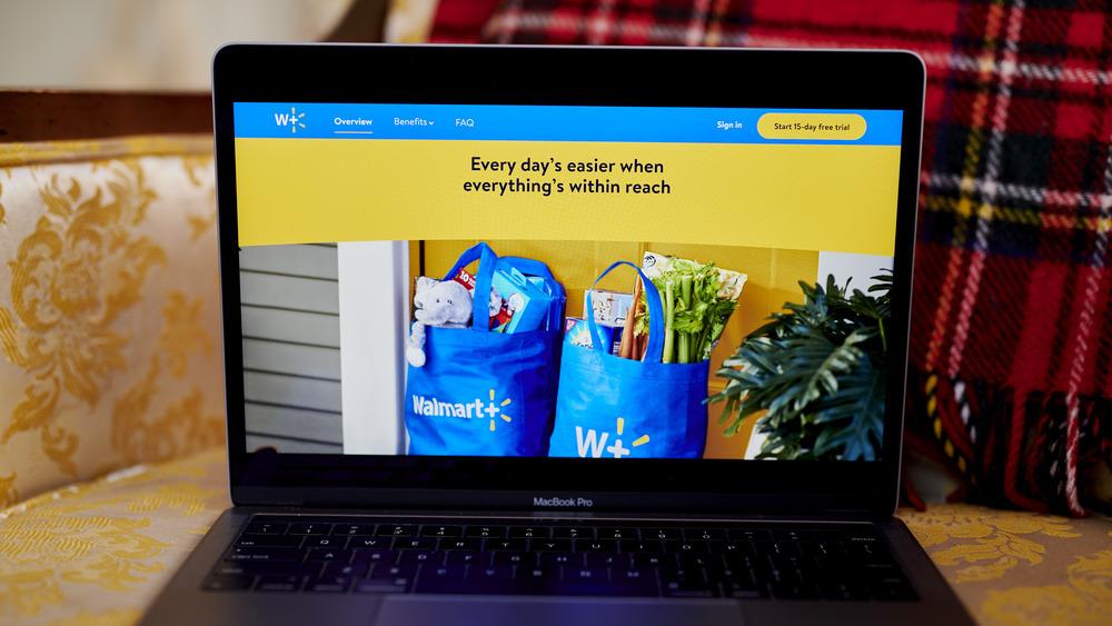 Walmart website on a laptop