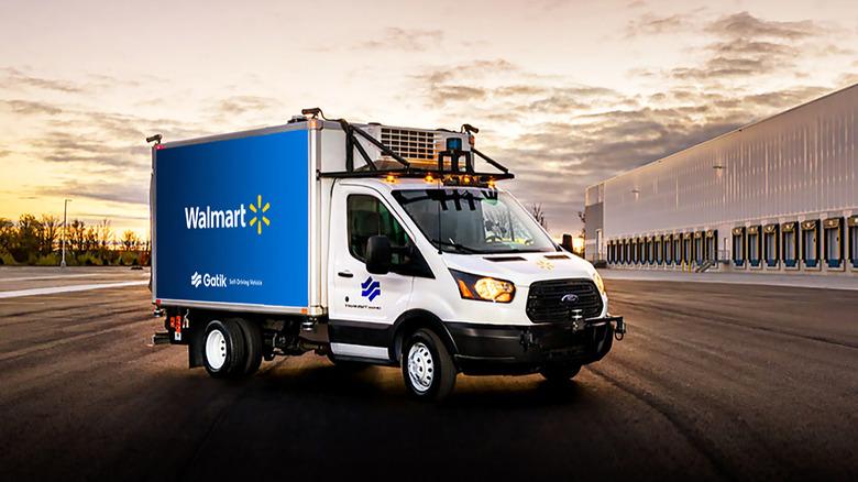 Corporate photo: Walmart Gatik autonomous truck