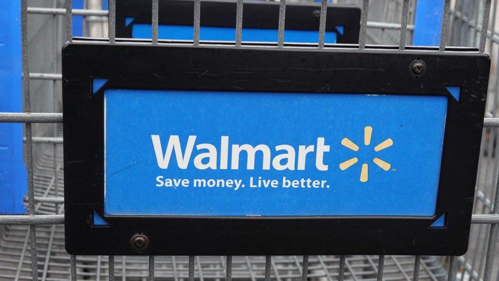 A Walmart shopping cart