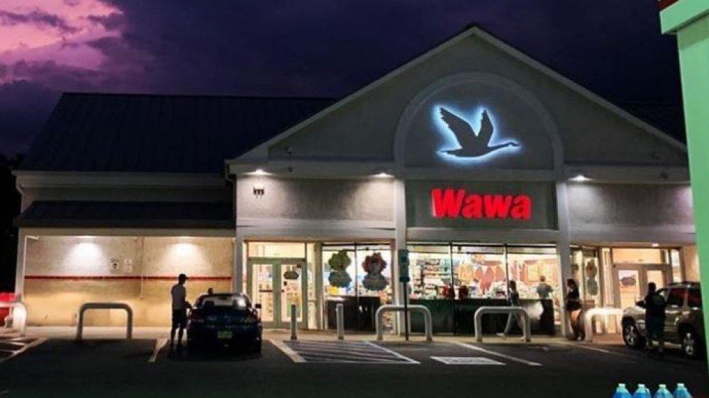 Wawa store at night