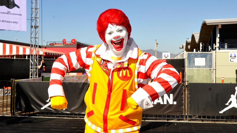 ronald mcdonald smiling