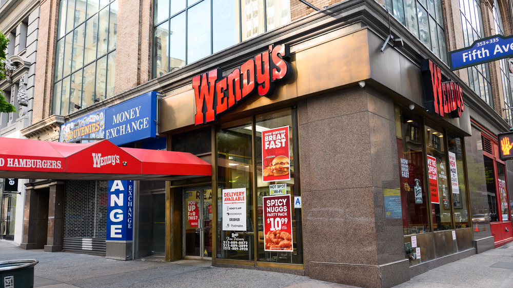 Wendy's restaurant storefront
