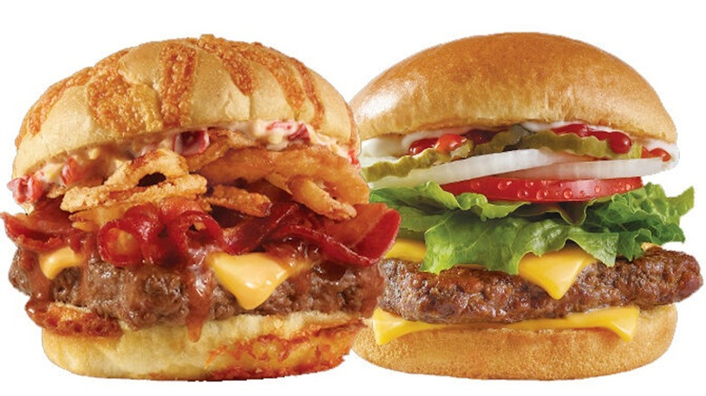Wendy's Big Bacon Cheddar Burger and Dave's Single