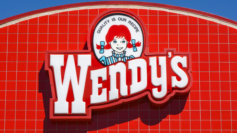 Wendy's logo on storefront
