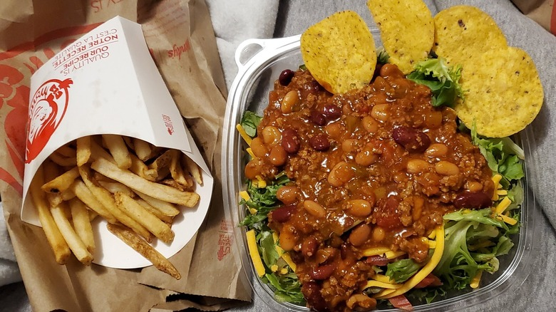 taco salad and French fries