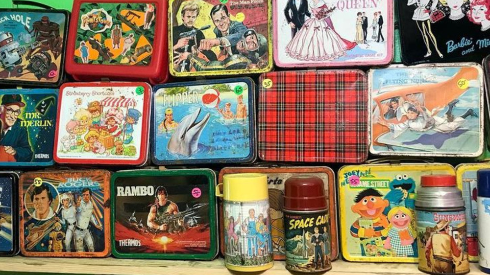 Assorted metal lunch boxes