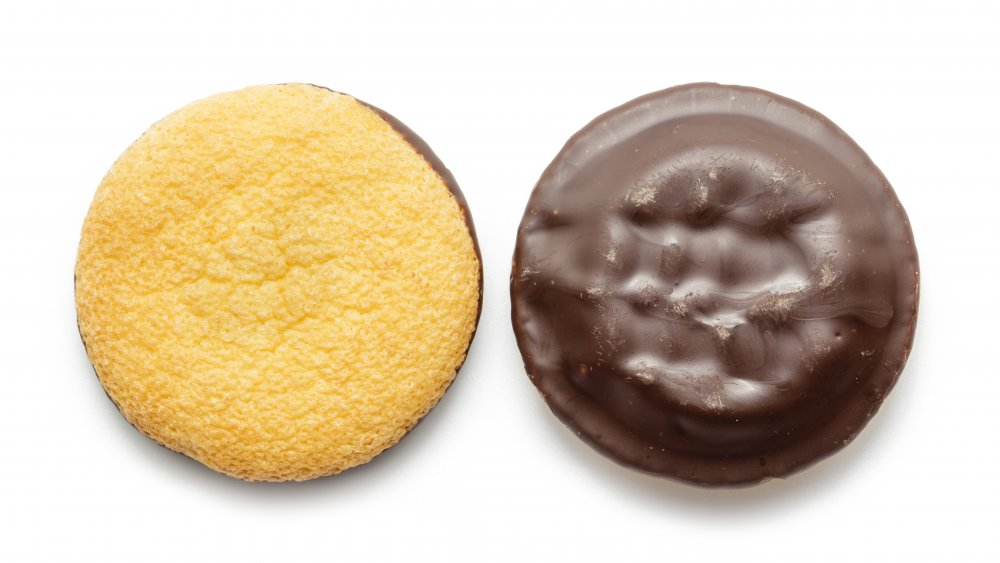 Jaffa cake front and back