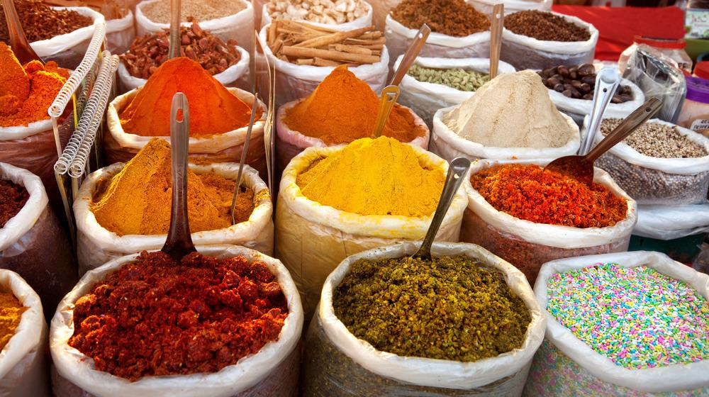 Spice market in Goa, India