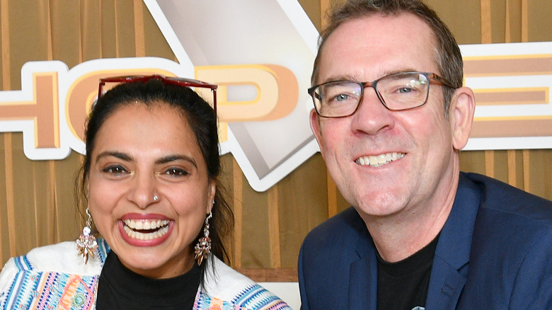 Ted Allen and Maneet Chauhan from Chopped