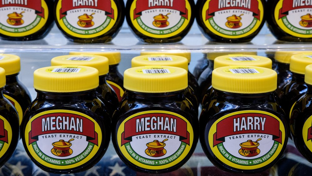 Jars of Marmite on shelves