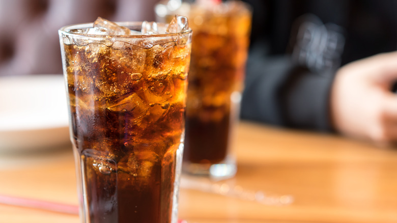 soft drink in glasses