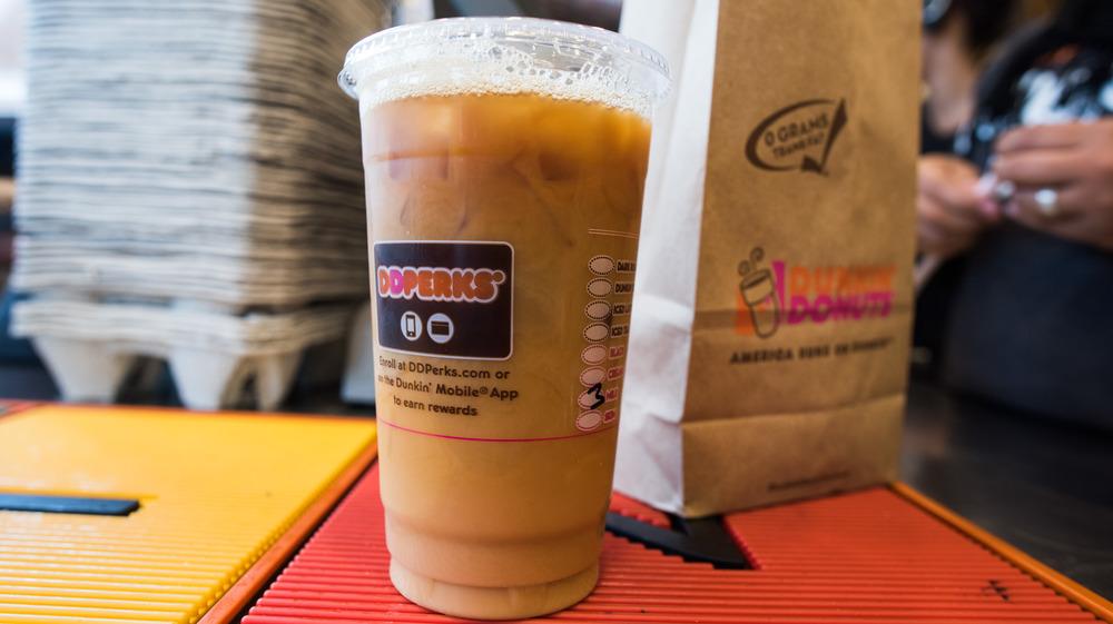 Dunkin' iced coffee