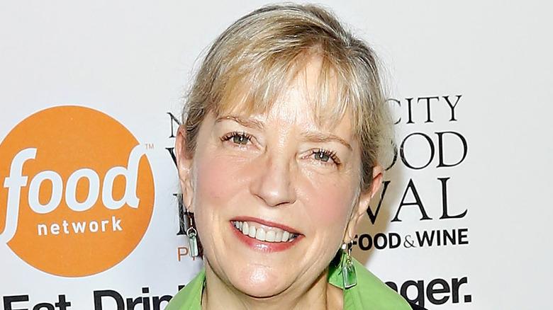 Sara Moulton green shirt smiling