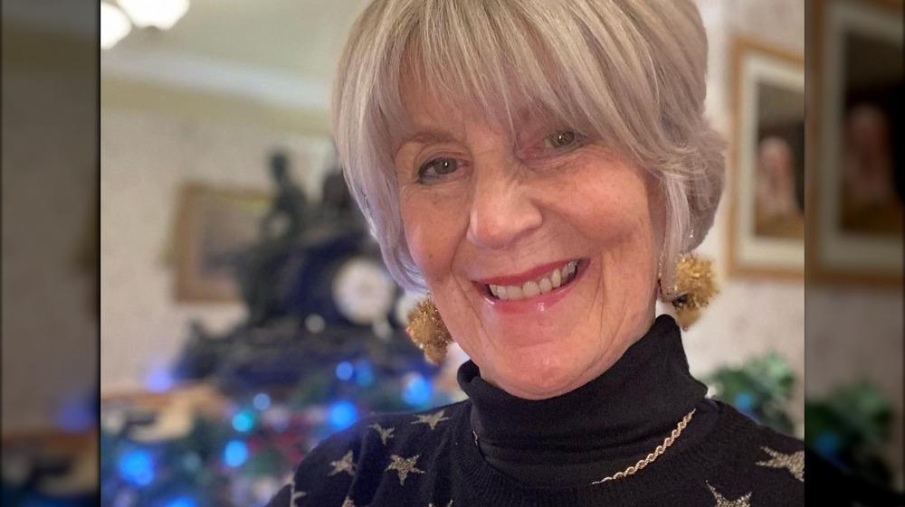 Nancy Birtwhistle in a starry black sweater