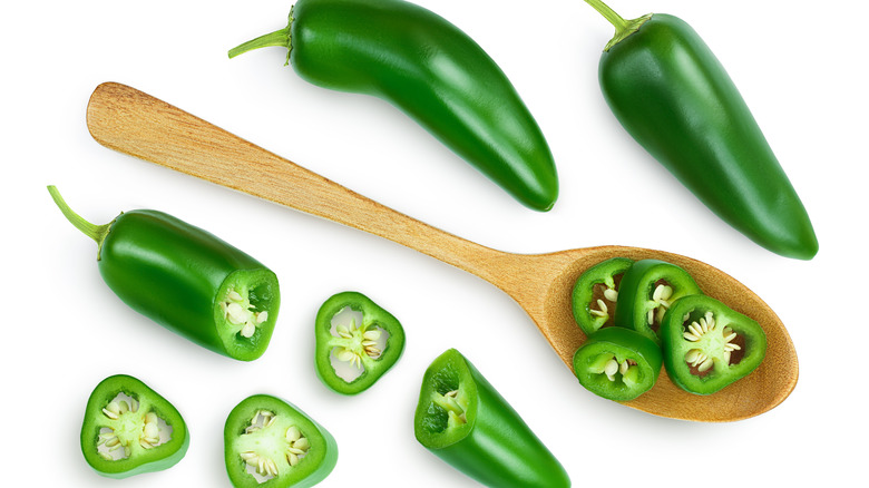 jalapenos, cut and whole