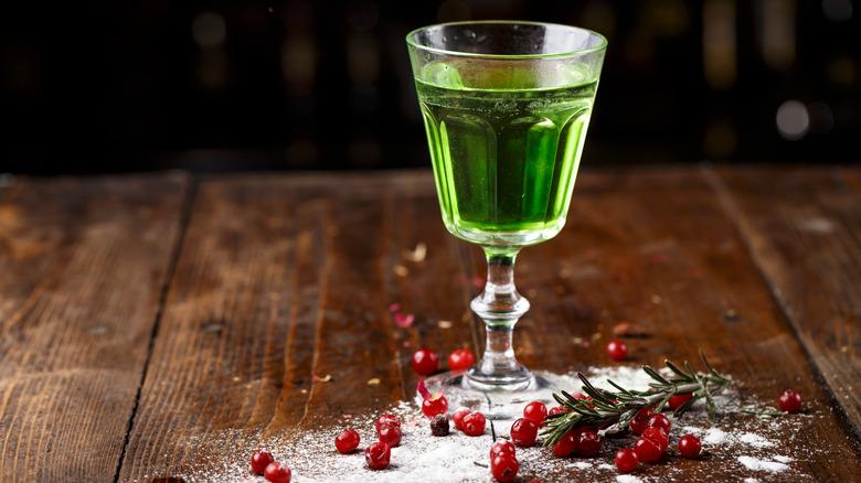 absinthe in glass
