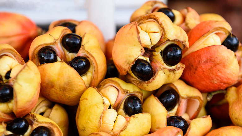 pile of ripe ackee fruit