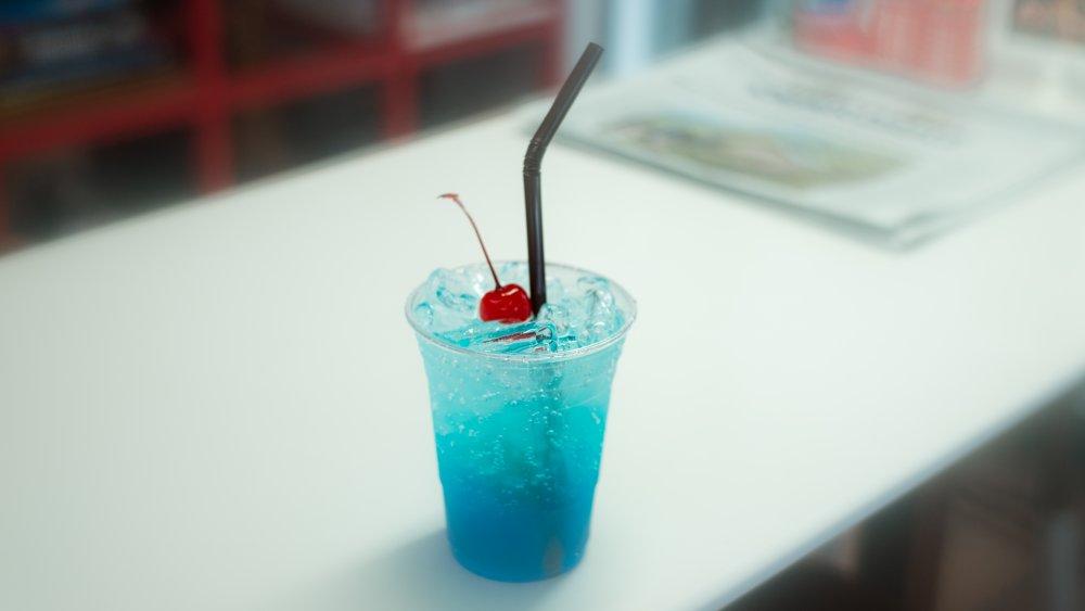 Blue raspberry ice cream