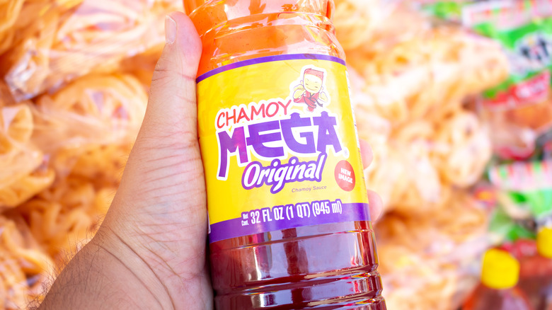 bottle of chamoy sauce
