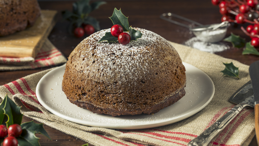 A plate of sweet figgy pudding