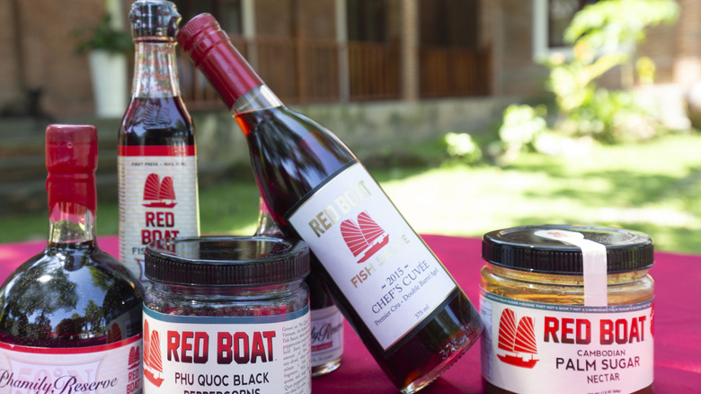 Different types of Red Boat fish sauce