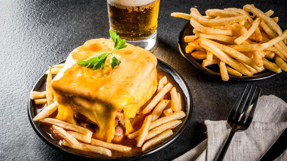 Gooey francesinha sandwich wfith fries