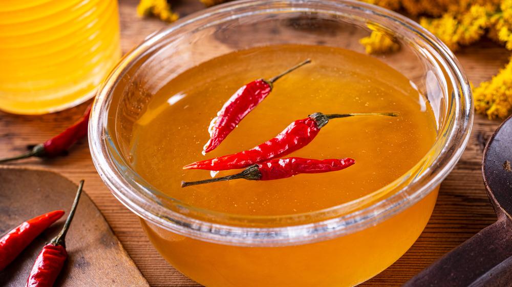 Honey with chilis