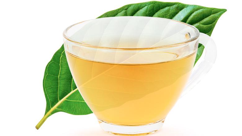 A cup of kratom tea