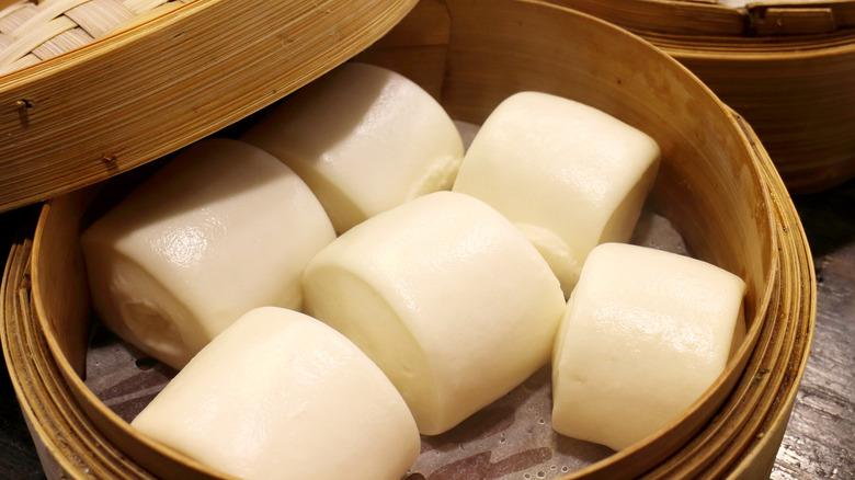 Mantou in a steamer