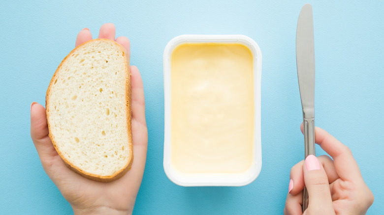 Margarine and bread