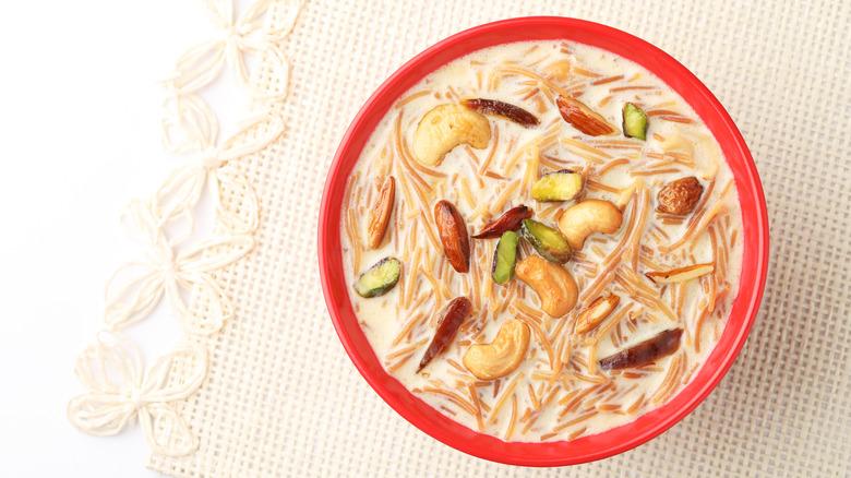 Sheer khurma in bowl